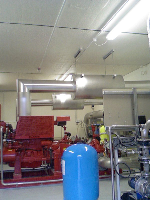 Insulation Exhaust System For Generators In Mineral Wool